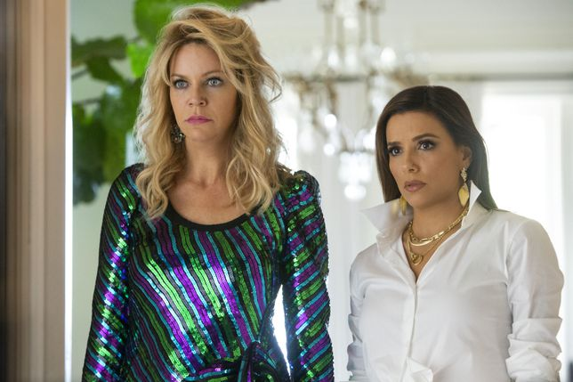 Kaitlin Olson and Eva Longoria in Quibi's comedy Flipped