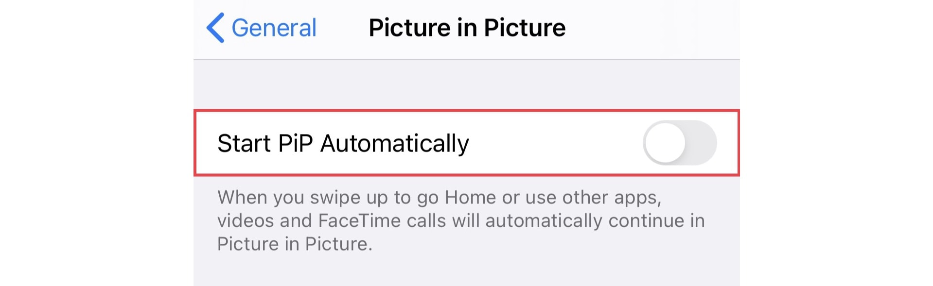 How to disable automatic picture-in-picture