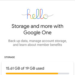 <em>You can now use Google One for free storage up to 15GB.</em>
