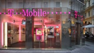the exterior of a T-Mobile (TMUS) branded store