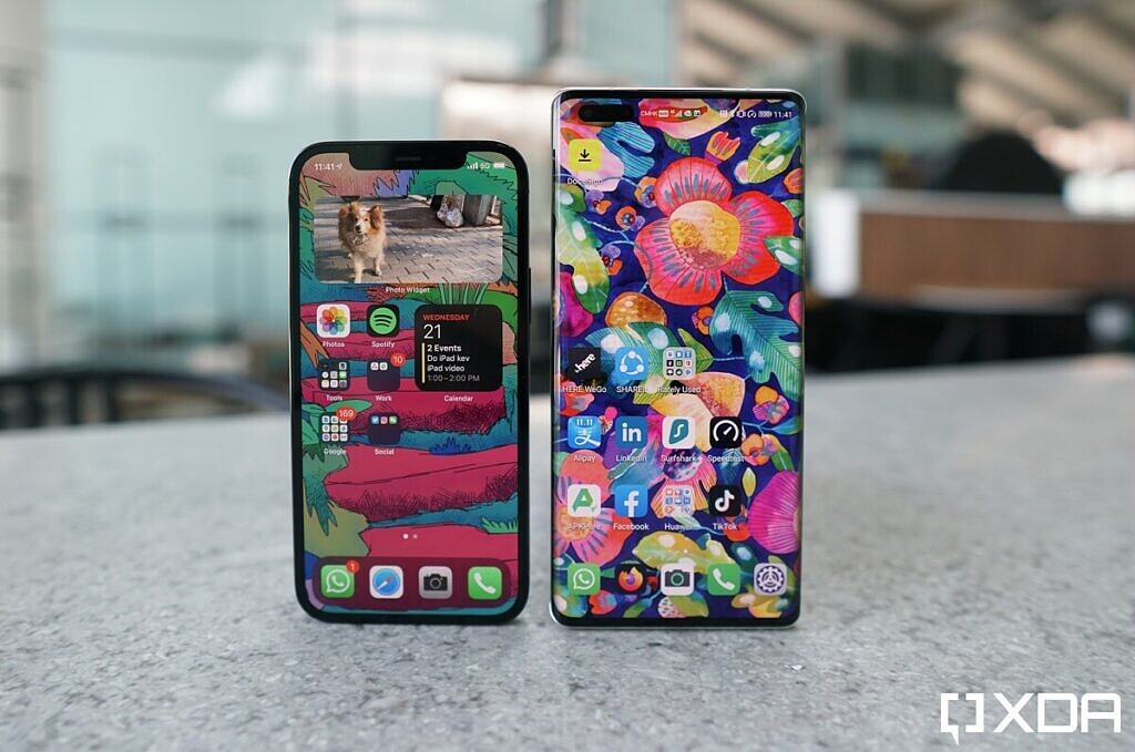 Mate 40 Pro and iphone 12 Pro.