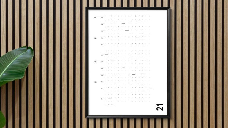 IOTA Inc The Minimalist's Wall Calendar