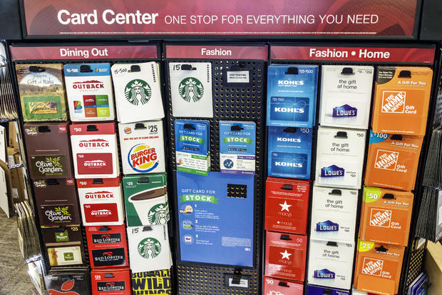 Florida, Miami Beach, Office Depot, gift card display