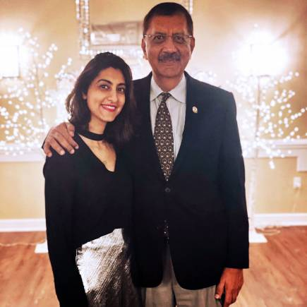 Luvleen Sidhu with her father