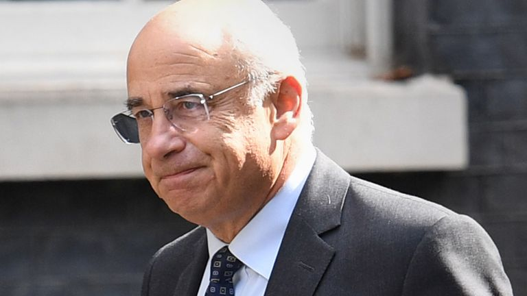 Lord Justice Sir Brian Leveson arrives in Downing Street, London, ahead of a roundtable on crime hosted by Prime Minister Boris Johnson, which will look at how to improve the criminal justice system and deal with the most serious and violet offenders. 12/8/19