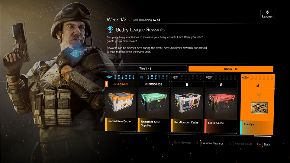 Some rewards you can unlock in The Division 2.