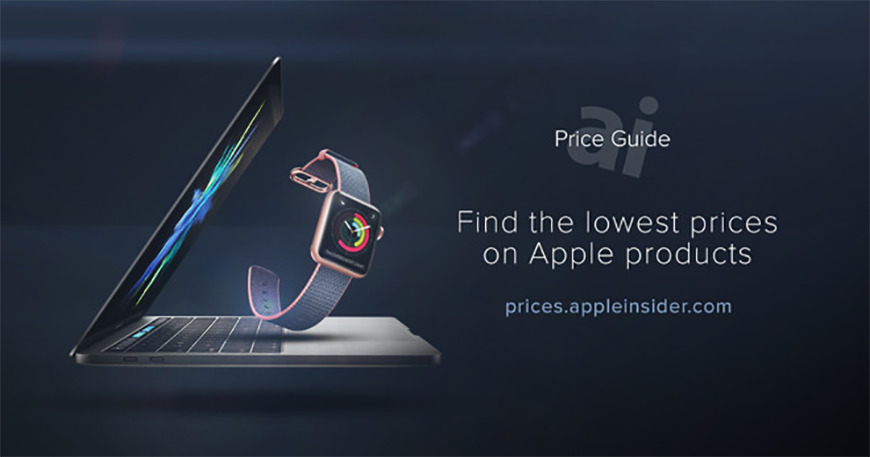 Apple hardware with AppleInsider Price Guide Text