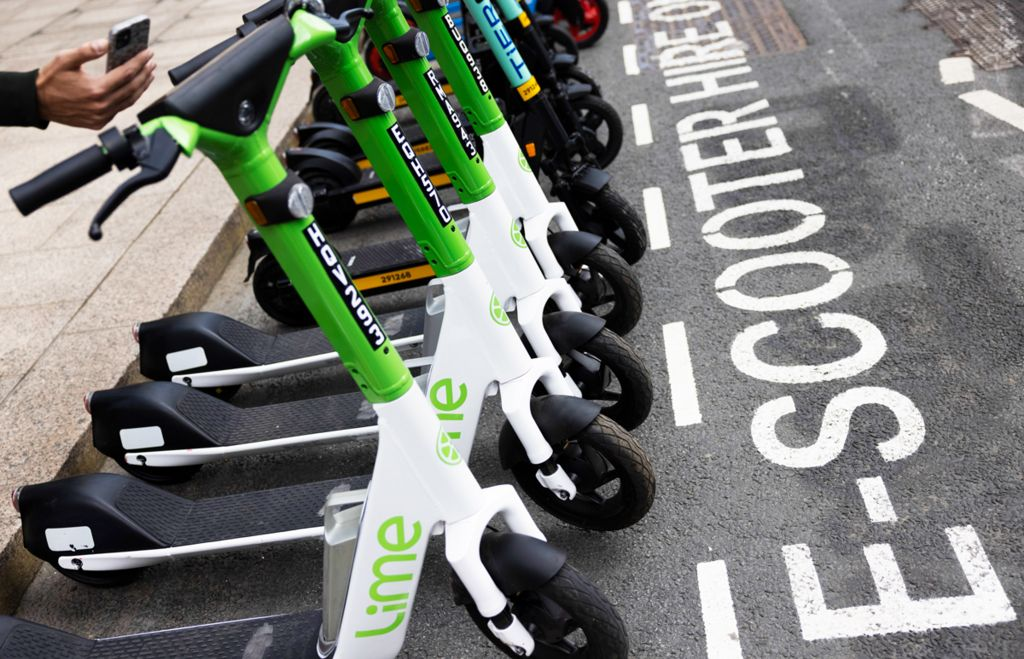 E-scooter trial in London, June 2021