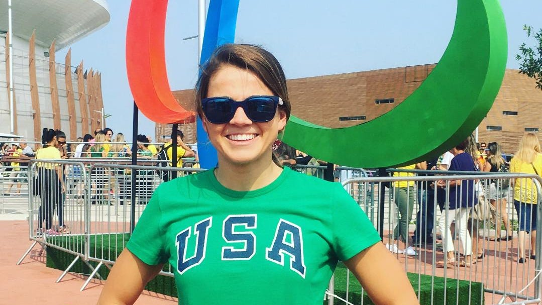 Becca Meyers at the 2016 Rio Paralympics in Brazil.