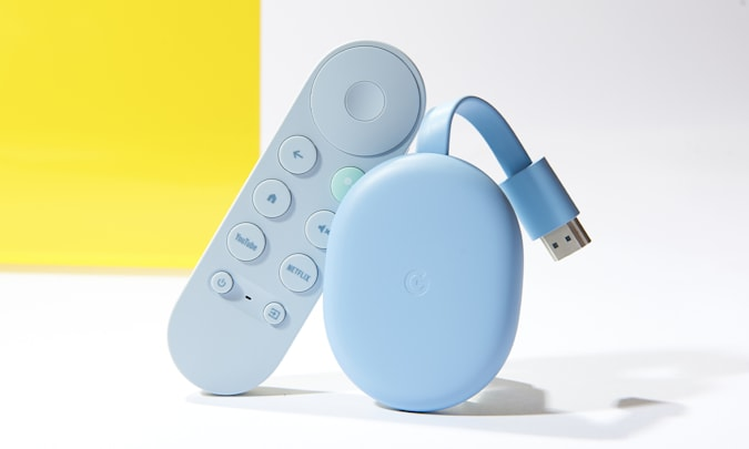 The Google Chromecast with Google TV for Engadget's 2021 Back to School guide.